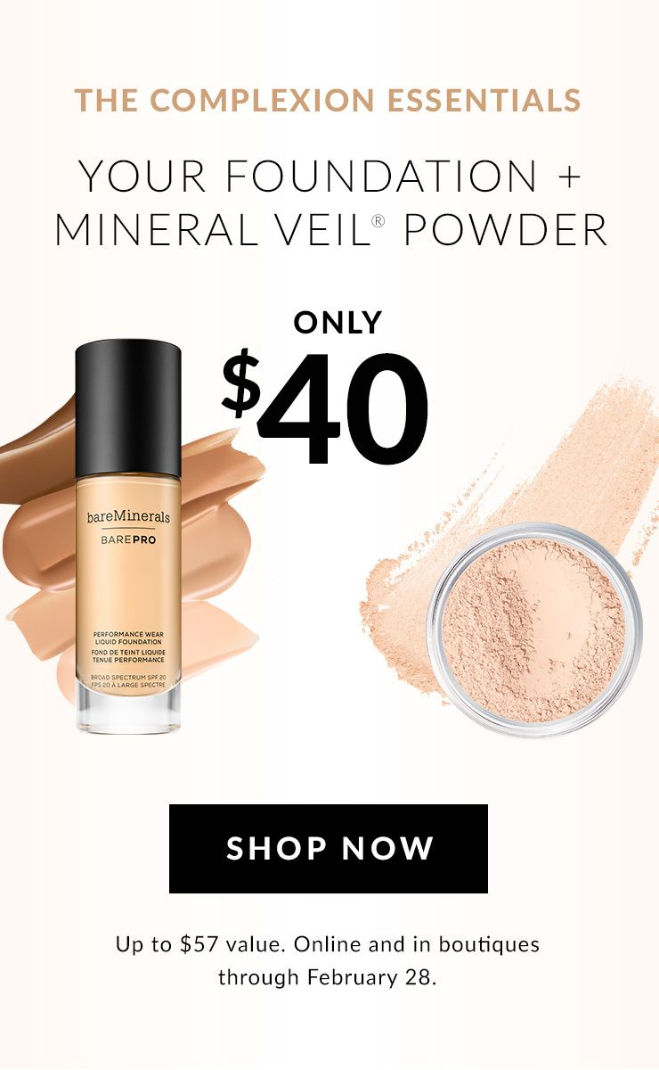 foundation + mineral veil for $40
