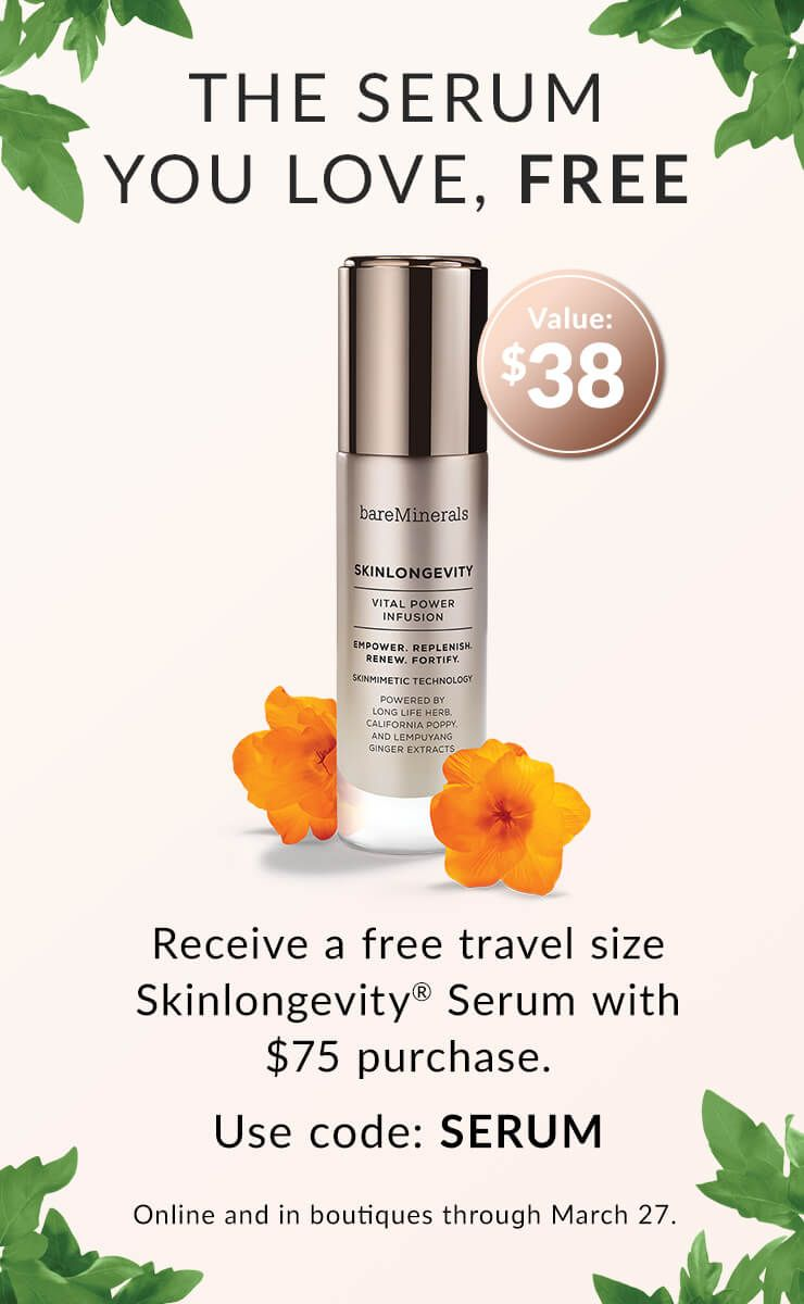 Free Serum with $75